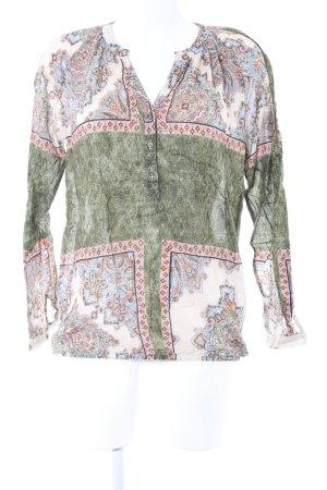 Emily van den Bergh Blusa de túnica Mezcla de patrones look casual