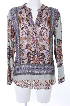 Emily van der Bergh Langarm-Bluse abstraktes Muster Casual-Look