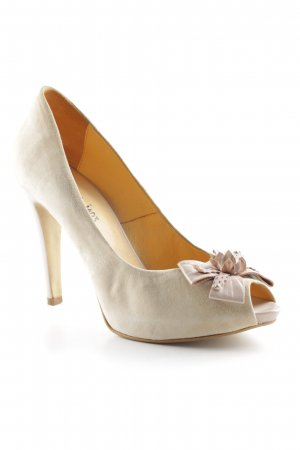 Emma & Jad3 High Heels creme-altrosa Elegant