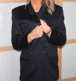 Emotion Größe 38 M L Cashmere Kaschmir mantel Jacke navy dufflecoat top