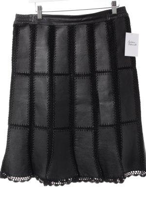 Emozioni Leather Skirt black mesh look