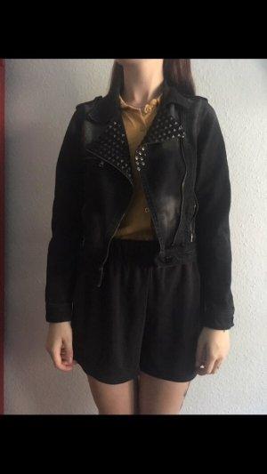 EMP Schwarze Nietenjeansjacke
