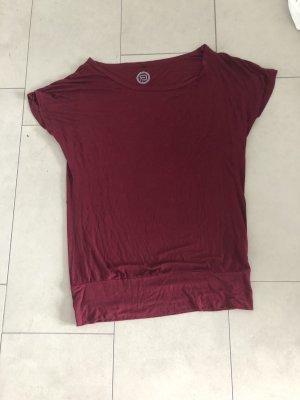 One Shoulder Shirt bordeaux-dark red
