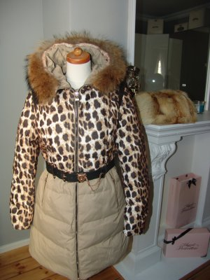 °°°Empire - Cookie, Fuchs Pelz Mantel,Jacke, Echtfell,USA,Leopard,Gr. L,NEU°°°