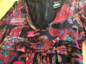 Robe empire multicolore soie