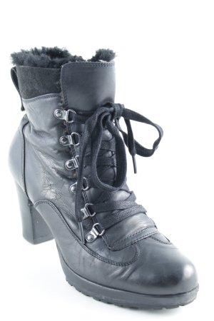 Empodium Reißverschluss-Stiefeletten schwarz-silberfarben Casual-Look