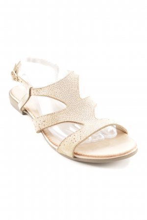 Empodium Roman Sandals beige-gold-colored casual look