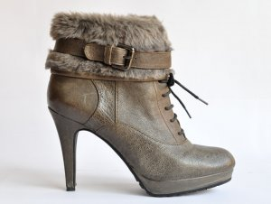 Empodium Platform Booties grey brown-green grey