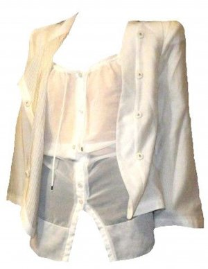 EMPORIO ARMAN PARTY JACKE BLUSE weiss Gr. 38 / 40