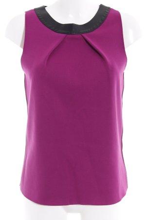 Emporio Armani A-Linien Top schwarz-violett Casual-Look