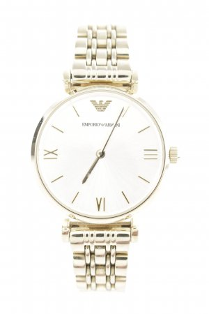 "Emporio Armani Analoguhr ""Ladies Gianni T-Bar Wristwatch Gold"""