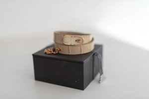 Emporio Armani Armband Leder beige mit gold