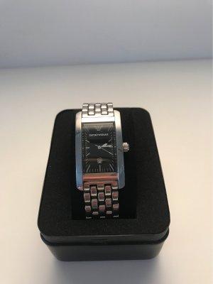 Emporio Armani Watch With Metal Strap silver-colored-black