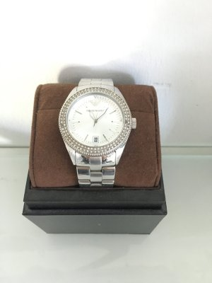 Emporio Armani Armbanduhr Uhr (wie Rolex) Silber Boho Blog Vintage Bloggerstyle