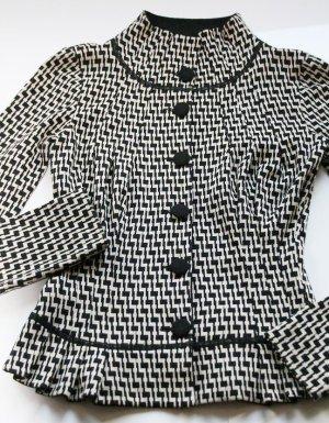 Armani Short Blazer black-beige polyacrylic