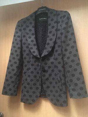 Emporio Armani Blazer grau schwarz mit Punkten