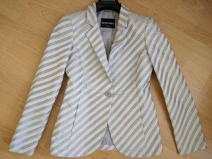 Emporio Armani Blazer de esmoquin color plata fibra textil