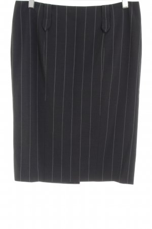 Emporio Armani Pencil Skirt black striped pattern business style