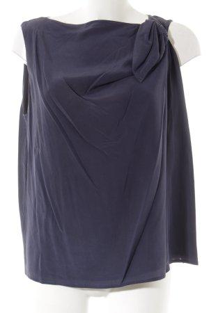 Emporio Armani Blusentop dunkelblau schlichter Stil