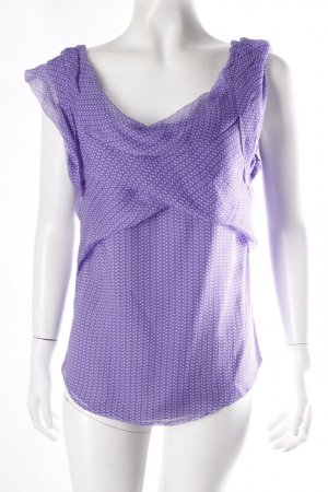 Armani Blouse Top purple-white silk