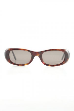 Emporio Armani Glasses brown-black abstract print retro look