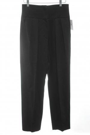 Emporio Armani Bundfaltenhose schwarz Business-Look
