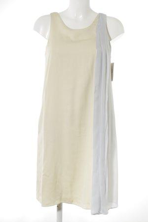 Emporio Armani Robe chiffon jaune primevère-gris clair élégant