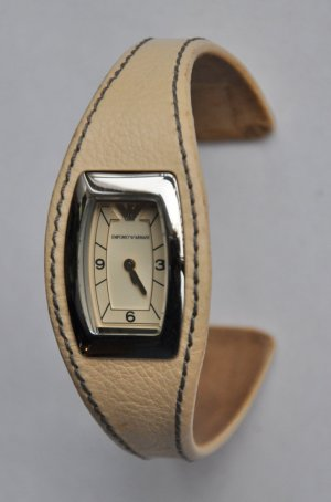 Emporio Armani Damen Armbanduhr Spangenuhr AR5610 Leder Edelstahl