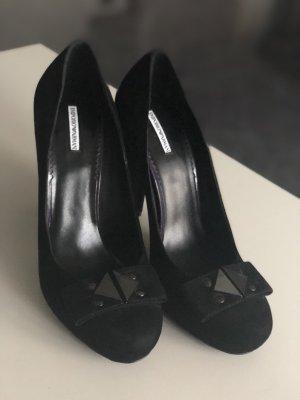 Emporio Armani Plateauzool pumps zwart