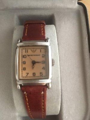 Emporio Armani Watch With Leather Strap multicolored