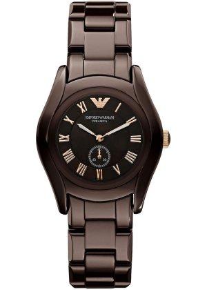 Emporio Armani Reloj analógico marrón oscuro