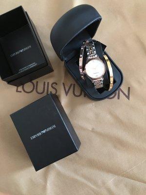 Emporio Armani Horloge met metalen riempje roségoud-zilver