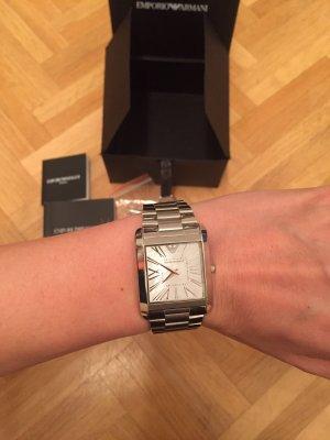 Emporio Armani Watch With Metal Strap silver-colored