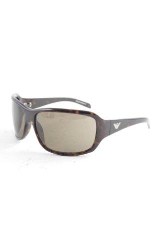 Emporio Armani eckige Sonnenbrille schwarz-braun Animalmuster Animal-Look