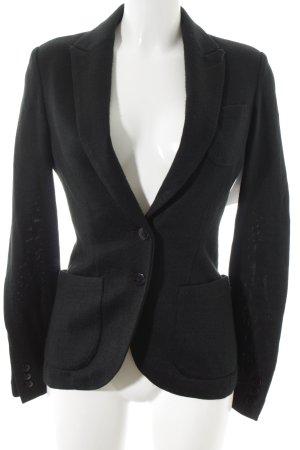 Emporio Armani Elastischer Blazer Wolle schwarz Casual-Look