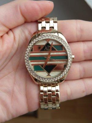 emporio armani exchange ax5527 neu damenuhr armbanduhr gold grün