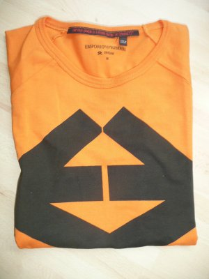 Emporio Armani Eyecatcher Shirt Orange Schwarz Gr M