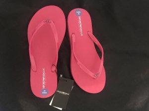 Emporio Armani Flip-Flop Sandals pink-raspberry-red