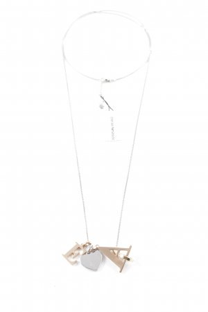 "Emporio Armani Halskette ""Letters Charm Necklace Silber/Rosegold/Gold"""