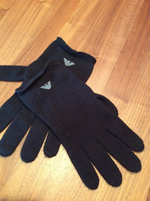 Emporio Armani Guantes con dedos negro-gris claro Lana