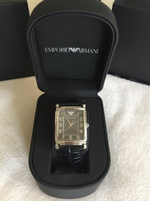 Emporio Armani Herren Armbanduhr mit Lederarmband, AR0423