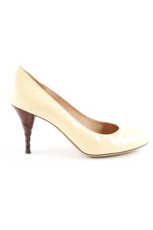 Emporio Armani High Heels blassgelb extravaganter Stil