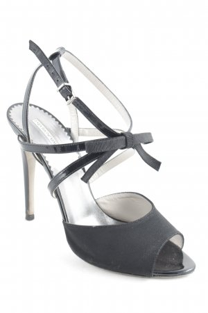 Emporio Armani High Heels schwarz-hellgrau Party-Look