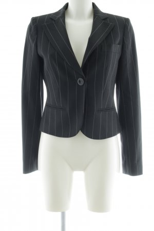 Emporio Armani Kurz-Blazer schwarz-weiß Streifenmuster Business-Look