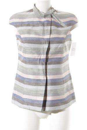 Emporio Armani Kurzarm-Bluse Streifenmuster Business-Look