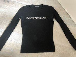 Emporio Armani Lang shirt zwart-wit