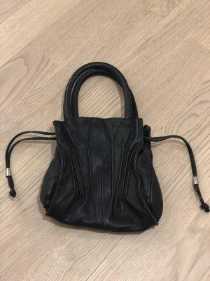 Armani Pouch Bag black-silver-colored