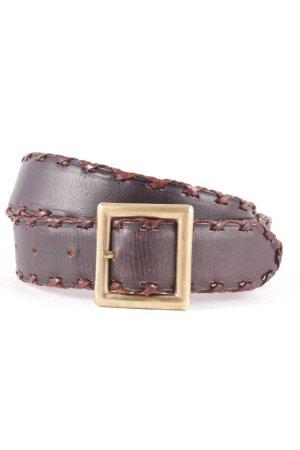 Emporio Armani Cintura di pelle marrone scuro-marrone Stile Boho