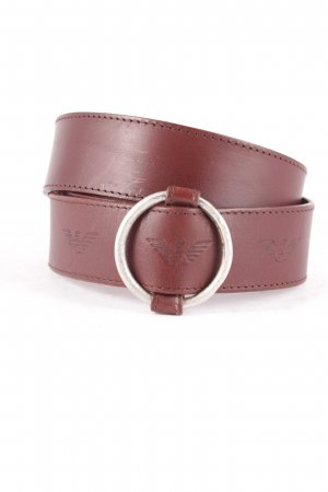 Emporio Armani Leather Belt dark brown-brown casual look