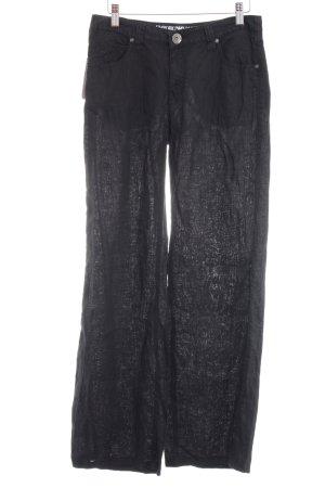Emporio Armani Leinenhose schwarz schlichter Stil